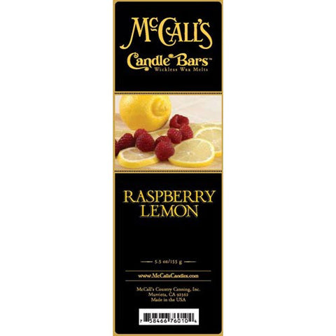 McCall's Candles Candle Bar 5.5 oz. - Raspberry Lemon