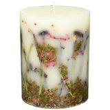 Rosy Rings Botanical Candle 6.5 Inches Tall - Red Currant & Cranberry