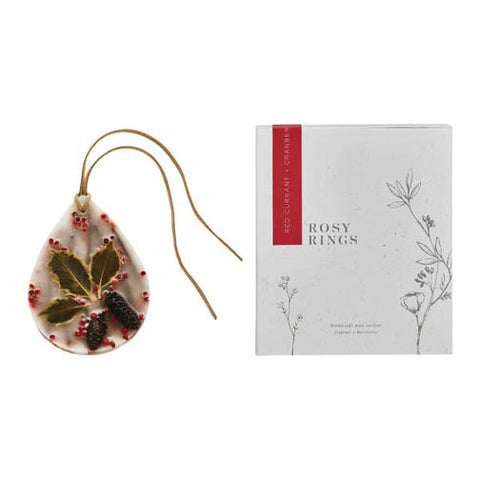 Rosy Rings Wax Oval Botanical Sachet - Red Currant & Cranberry