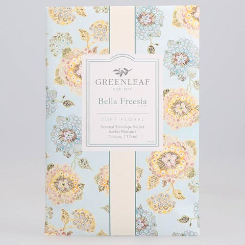 Greenleaf Large Scented Envelope Sachet Pack of 6 - Bella Freesia