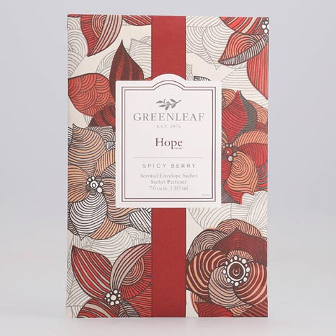 Greenleaf Large Scented Envelope Sachet Pack of 6 - Hope