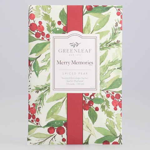 Greenleaf Large Scented Envelope Sachet Pack of 6 - Merry Memories