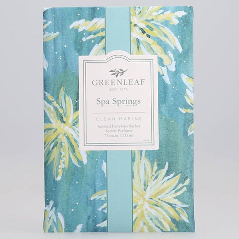 Greenleaf Large Scented Envelope Sachet Pack of 6 - Spa Springs