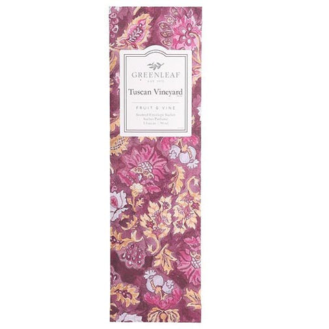Greenleaf Slim Scented Envelope Sachet Pack of 6 - Tuscan Vineyard