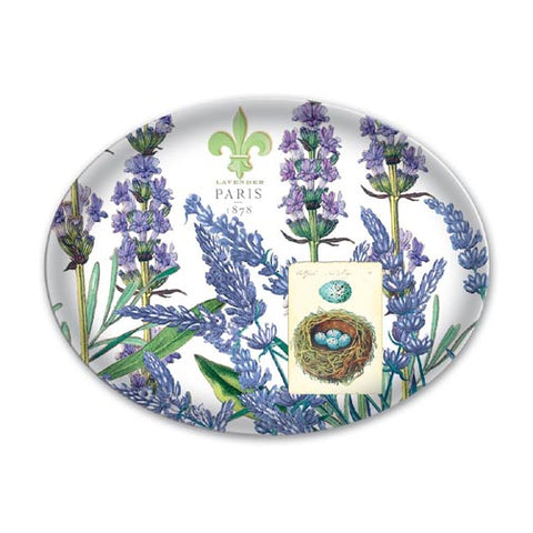 Michel Design Works Glass Soap Dish - Lavender Rosemary
