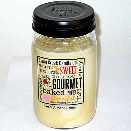 Swan Creek 100% Soy 24 Oz. Jar Candle - Sweet Almond Creme