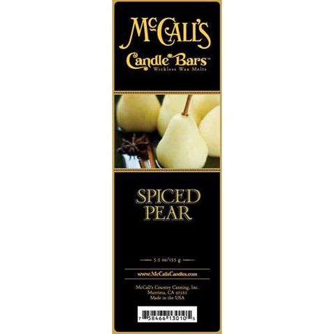 McCall's Candles Candle Bar 5.5 oz. - Spiced Pear