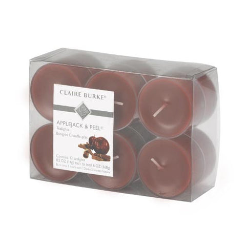 Claire Burke Tealights 12 Pack - Applejack & Peel