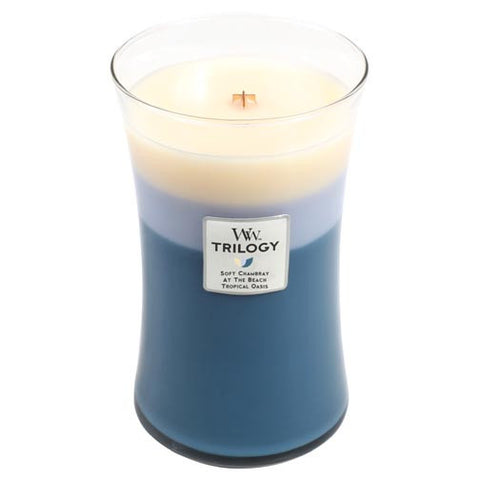 WoodWick Trilogy 22 Oz. Candle - Beachfront Cottage