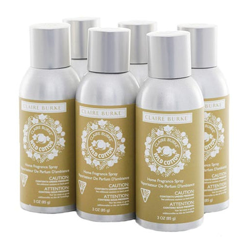 Claire Burke Vapourri Home Fragrance Spray 3 Oz. Box of 6 - Wild Cotton