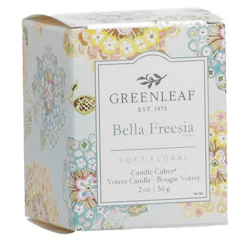 Greenleaf Gifts Candle Cube Boxed Votive Pack of 4 - Bella Freesia