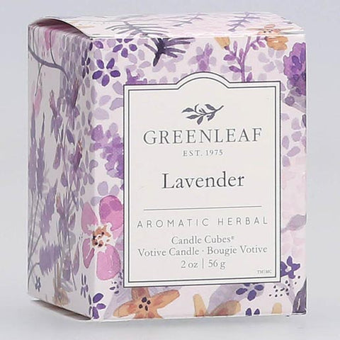 Greenleaf Gifts Candle Cube Boxed Votive Pack of 4 - Lavender
