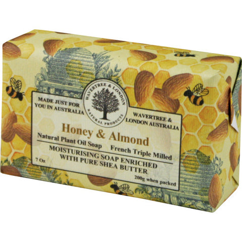 Australian Soapworks Wavertree & London 200g Soap - Honey & Almond