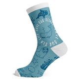 Sock Atomica Unisex Cotton Blend Socks - Save Our Oceans