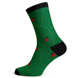 Sock Atomica Unisex Cotton Blend Socks - Ladybugs