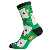 Sock Atomica Unisex Cotton Blend Socks - All in the Cards
