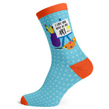 Sock Atomica Unisex Cotton Blend Socks - Love You With All My Art