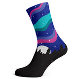 Sock Atomica Unisex Cotton Blend Socks - Northern Lights