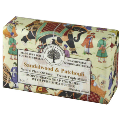 Australian Soapworks Wavertree & London 200g Soap - Sandalwood & Patchouli
