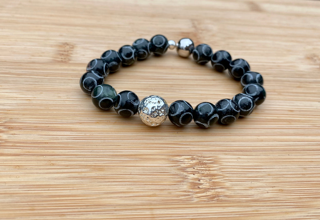 RETROGRADE Black Jamestone Bracelet