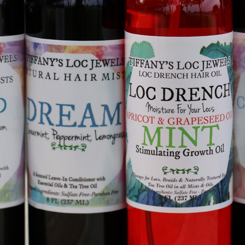 LOC DRENCH MINT HAIR OIL & MINT NATURAL HAIR MIST SET - TIFFANY'S LOC JEWELS