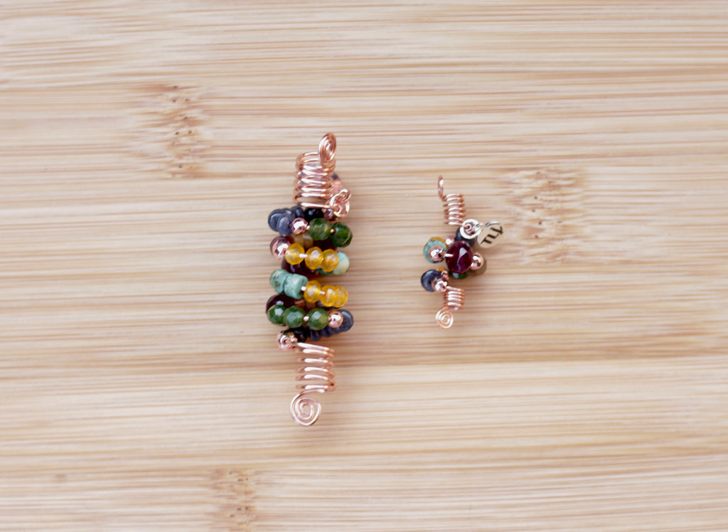 TUSCAN SUN YELLOW GREEN JADE & HEISHI Loc Jewel
