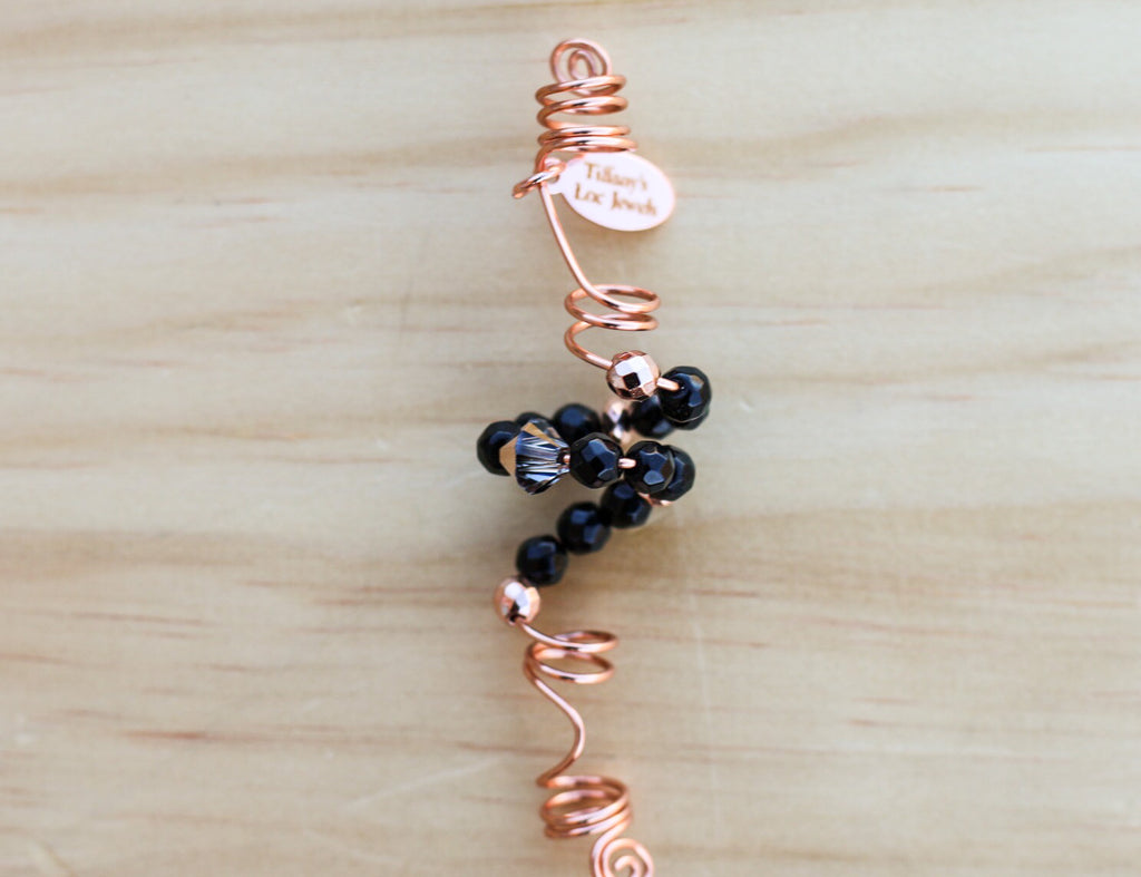 ANNALIE Black Jade & Copper Loc Jewel - TIFFANY'S LOC JEWELS