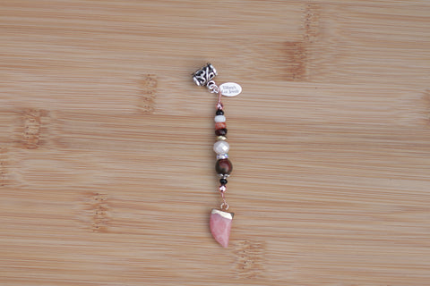 BLUSHING PEACH RED CREEK JASPER & JADE HORN Loc Jewel - TIFFANY'S LOC JEWELS