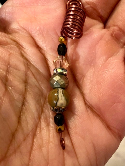 NEUTRAL Pyrite & Jasper Loc Jewel - TIFFANY'S LOC JEWELS