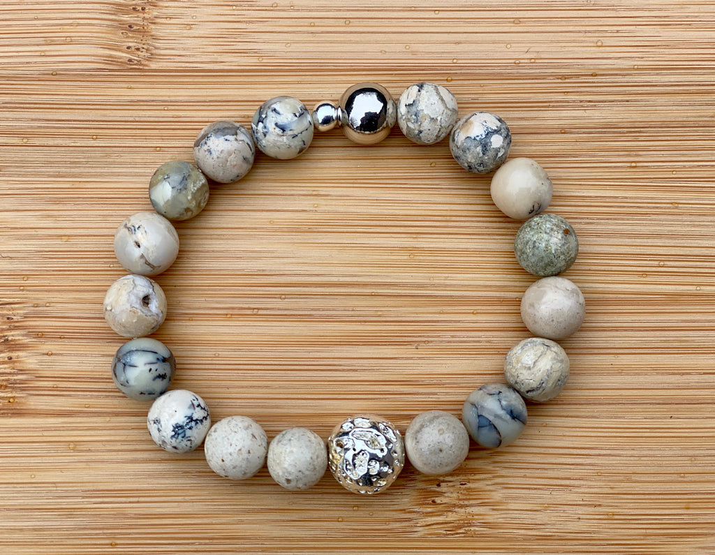 UP HIGH Natural African White Opal Bracelet