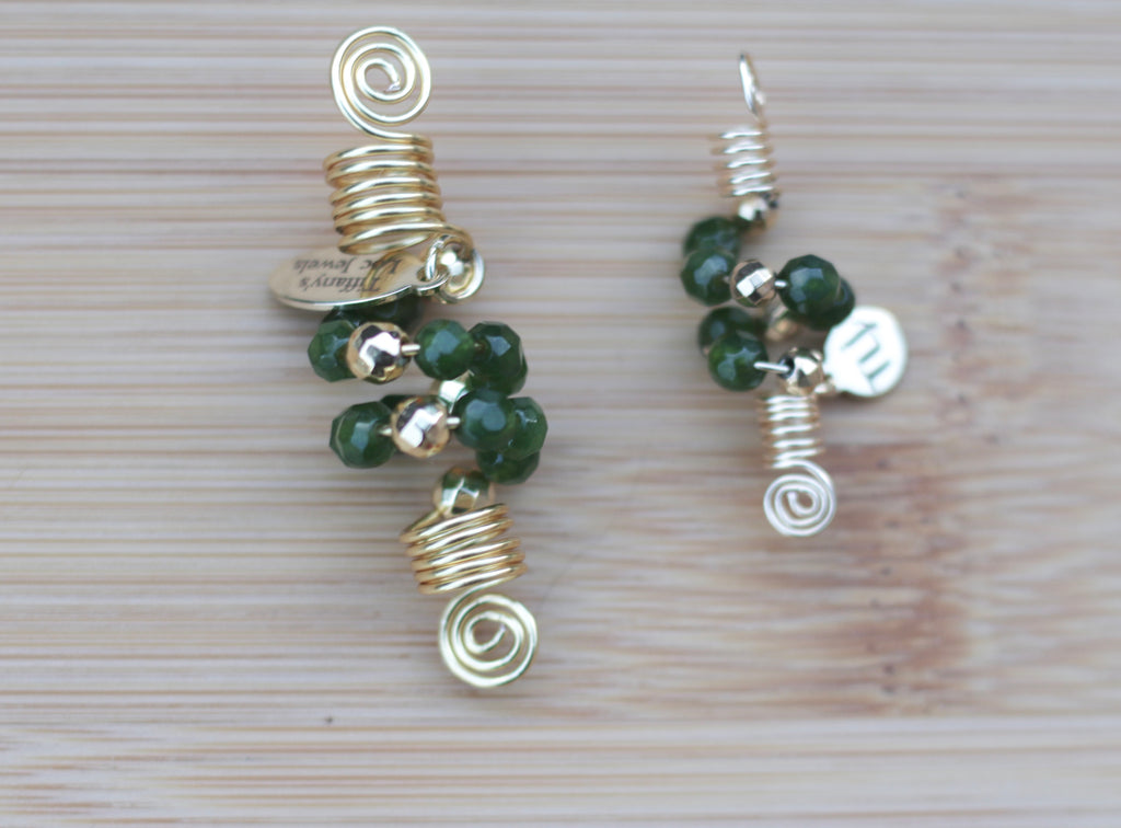 EMERALD GREEN JADE Loc Jewel - TIFFANY'S LOC JEWELS