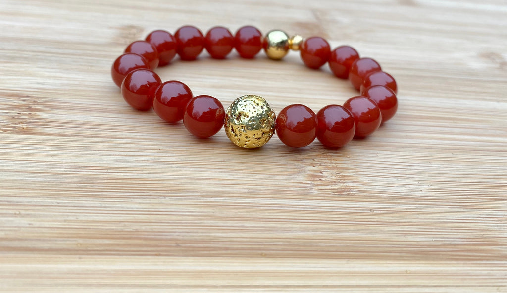 FALLING INTO YOU Carnelian Bracelet - TIFFANY'S LOC JEWELS