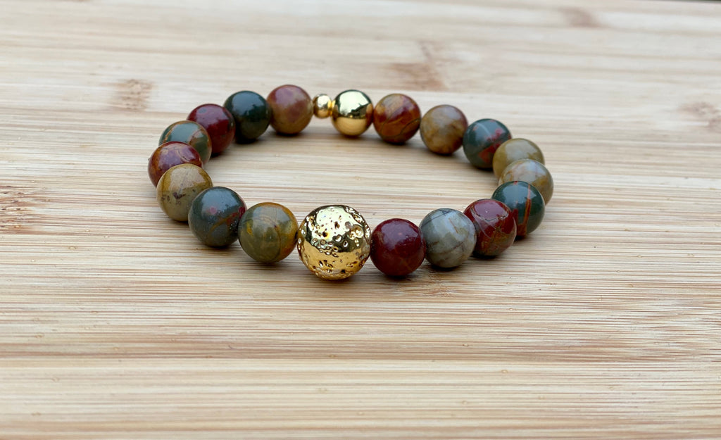 FREE FALL Picasso Jasper Bracelet - TIFFANY'S LOC JEWELS