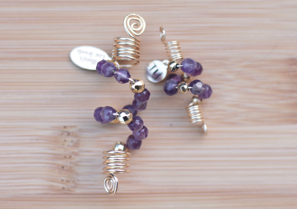 VIVID VIOLET AMETHYST Loc Jewel - TIFFANY'S LOC JEWELS