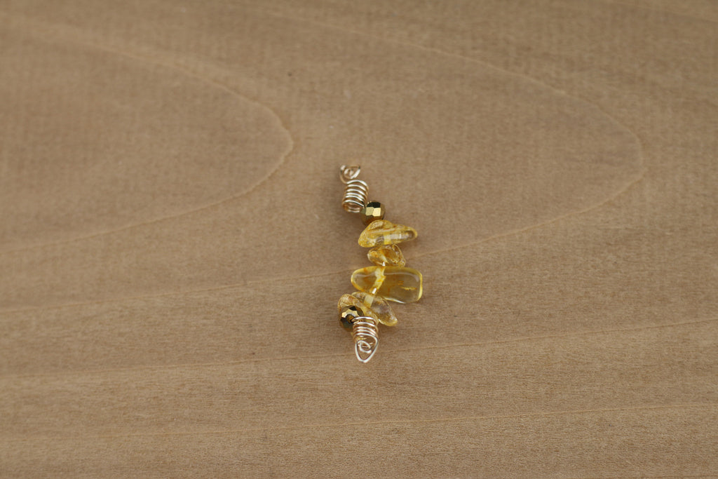 PEBBLE Citrine Nugget Sisterlock Loc Jewel - TIFFANY'S LOC JEWELS