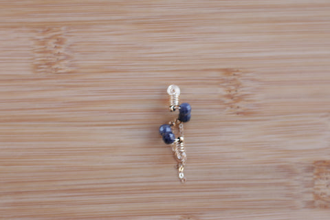 RICH NAVY Blue Sapphire Sisterlock Loc Jewel - TIFFANY'S LOC JEWELS