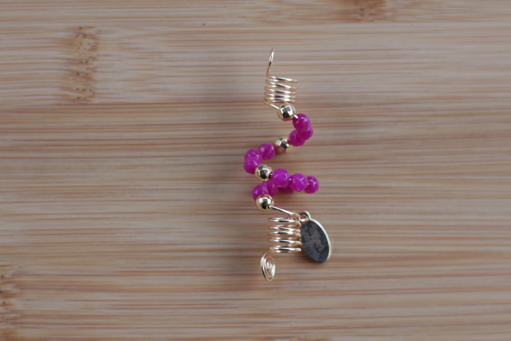 MAGENTA ROSE JADE Loc Jewel - TIFFANY'S LOC JEWELS