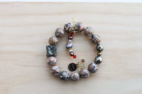KINGSTON LEOPARDSKIN JASPER BRACELET