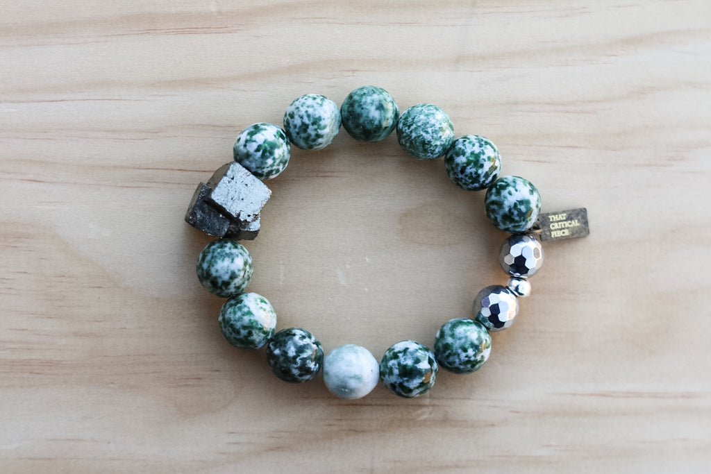 YAYA GREEN SPOT JASPER BRACELET - TIFFANY'S LOC JEWELS