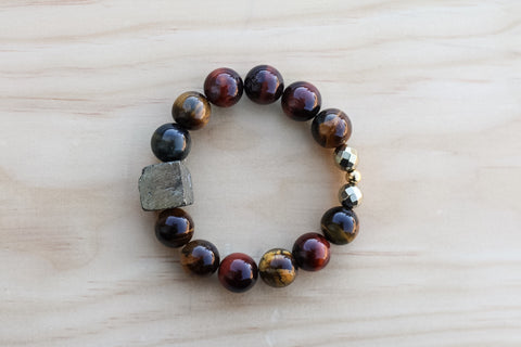 SIERRA TIGER'S EYE GEMSTONE BRACELET