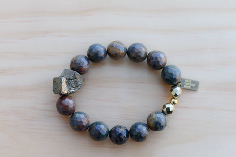 ANYA SEA WAVE JASPER BRACELET