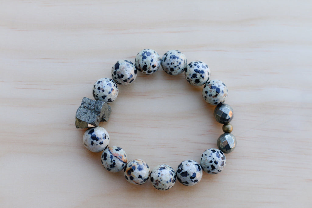 FAITH DALMATIAN JASPER BRACELET - TIFFANY'S LOC JEWELS