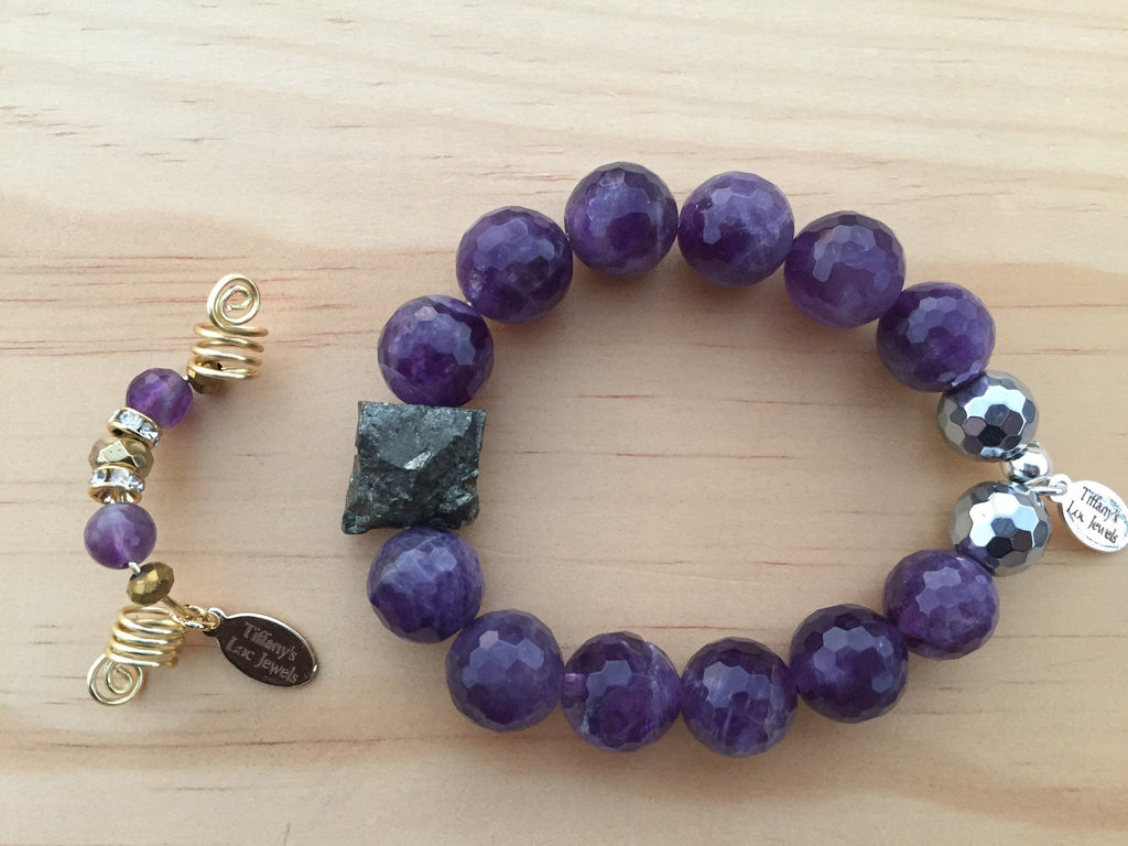 SHINE AMETHYST & PYRITE LOC JEWELRY - TIFFANY'S LOC JEWELS