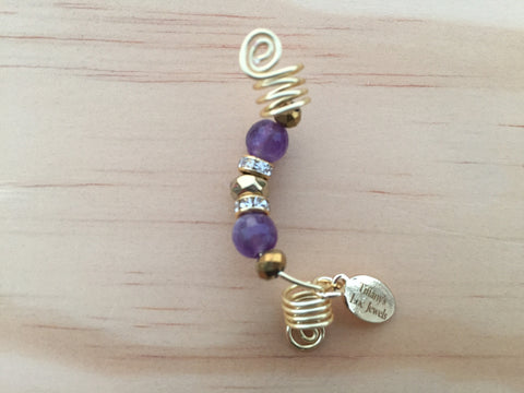 SHINE AMETHYST & PYRITE LOC JEWELRY