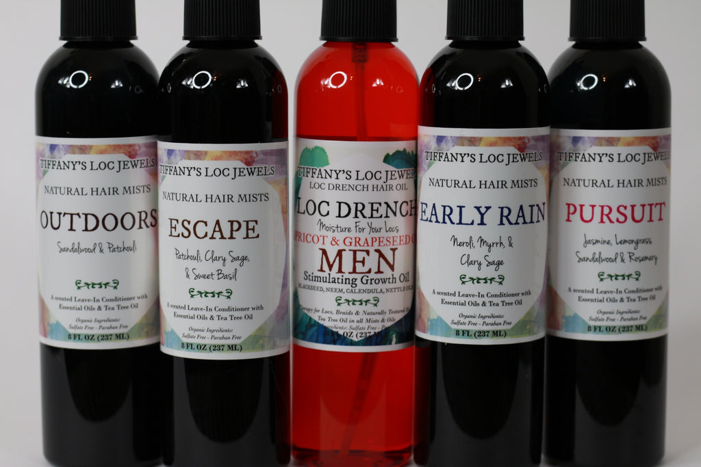 LOC DRENCH MEN'S HAIR OIL & MEN'S NATURAL HAIR MIST SET