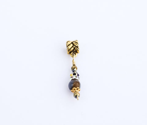 ICONIC Ocean Blue Golden Quartz Loc Jewel