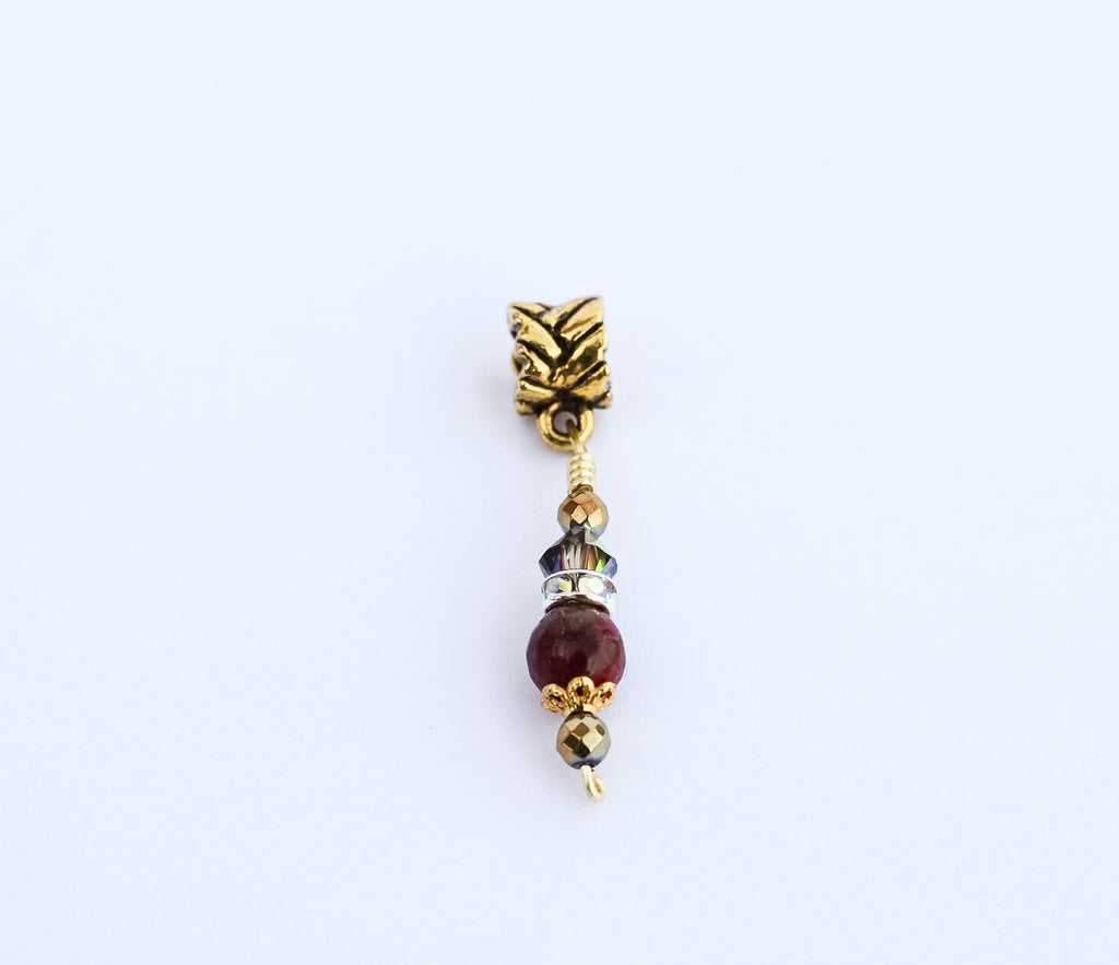 ICONIC Ruby Golden Quartz Loc Jewel - TIFFANY'S LOC JEWELS