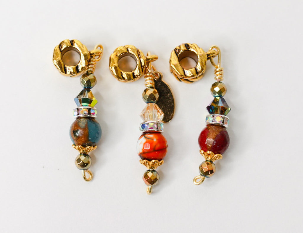 ICONIC Golden Quartz & Marbled Agate Loc Jewel Set