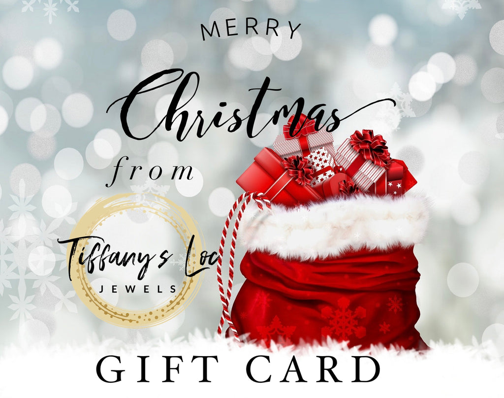 TIFFANY'S LOC JEWELS CHRISTMAS GIFT CARD