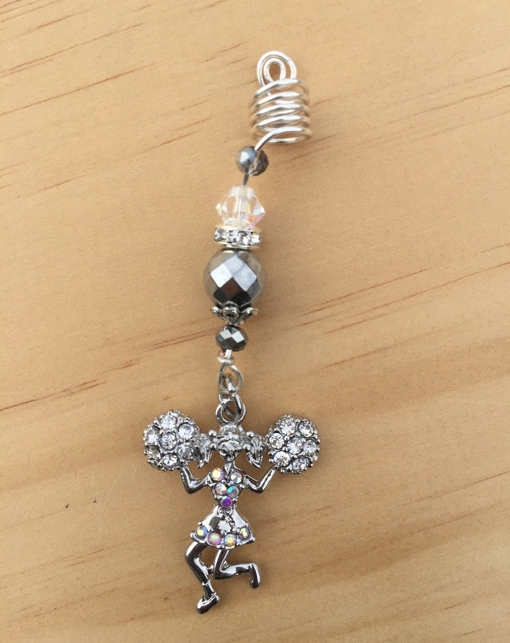 SILVER HEMATITE CHEERLEADER LOC JEWEL - TIFFANY'S LOC JEWELS